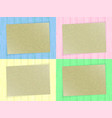 sheet of paper on colorful wooden background vector image vector image