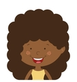 silhouette half body afro girl with curly hair vector image vector image