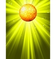 Sparkling Disco Ball Background vector image vector image