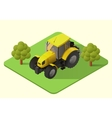 tractor farm machine vector image vector image
