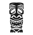 tribal wood idol icon simple style vector image vector image