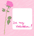 valentine rose card vector image vector image