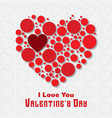 valentines card with white background vector image vector image