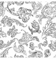 vintage floral leaves and shapes wallpaper vector image vector image