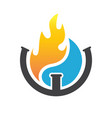 water and fire plumbing logo designs concept