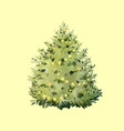 watercolor fir tree christmas vector image vector image