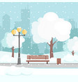winter city park with snow vector image vector image