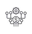 marketing development line icon sign vector image