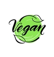 Vegan hand drawn brush lettering vector image