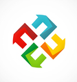 abstract circle geometry logo vector image