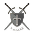 knight sword two crossed knight of the sword and vector image