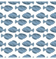 seamless vintage fish drawings pattern vector image