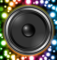 Speaker with abstract colorful background vector image