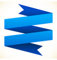 3d double banner ribbon design element banner vector image vector image
