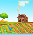 a rural farm landscape vector image vector image
