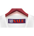 advertising of black friday sales clothing with vector image vector image