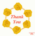 background with thank you vector image