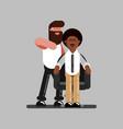 barber in work vector image