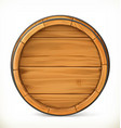 Barrel Wooden sign 3d icon vector image vector image