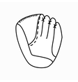 Baseball glove icon isometric 3d style vector image vector image