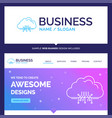 beautiful business concept brand name cloud vector image vector image