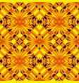 black and yellow seamless pattern vector image vector image