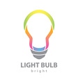 Bright light bulb vector image