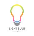 Bright light bulb vector image vector image