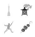 business port ecology and other monochrome icon vector image