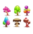 Cartoon sweet candy tree vector image vector image