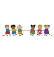 children pull rope vector image vector image