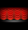 closed red curtains with with gold ropes and vector image