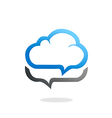 cloud talk icon logo vector image