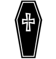 Coffin Icon vector image