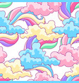 color clouds and rainbows vector image