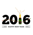 congratulations to happy new 2016 year with a vector image vector image
