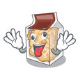 crazy pork rinds in character plastic vector image vector image