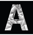 crystal letter A vector image