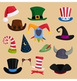 Different funny hats for party holidays and vector image vector image