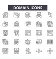 domain line icons signs set outline vector image vector image
