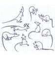 Doodle rats vector image