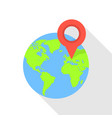 europe globe pin icon flat style vector image vector image