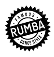Famous dance style Rumba stamp vector image vector image