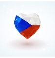 Flag of the Czech Republic in shape diamond glass vector image