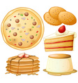 Food and sweets vector image vector image