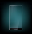 futuristic smartphone with transparent screen vector image vector image