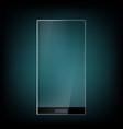 Futuristic smartphone with transparent screen