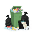 garbage stack vector image