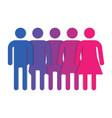 gender symbol line vector image vector image