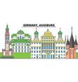 germany augsburg city skyline architecture vector image vector image